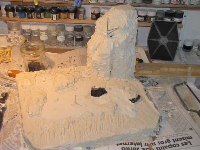 diorama geonosis platre