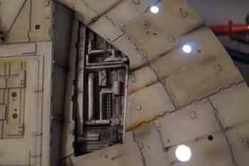 Faucon Millenium Altaya projecteurs d'atterrissage