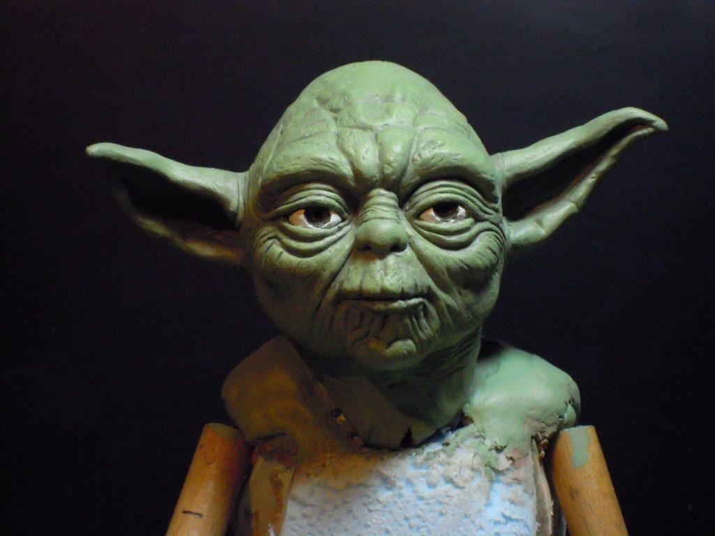 maître Yoda peint