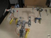 BTL-A4 Y-Wing fighter and X-Wing T-65