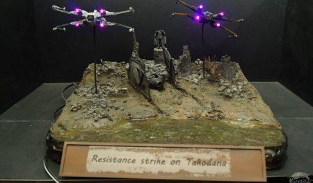 Resistance strike during the battle of Takodana