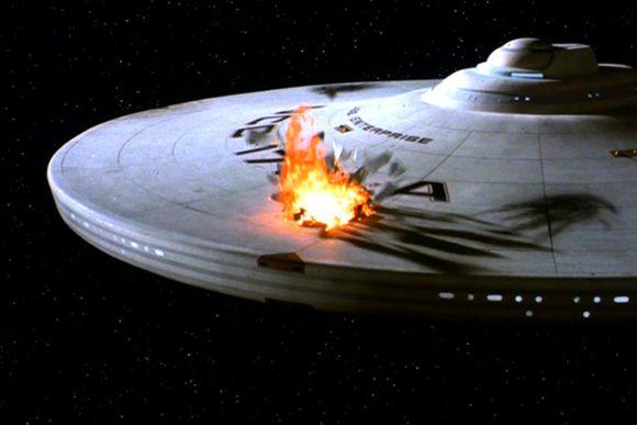 Star Trek 5 Enterprise NCC-1701-A dommages de bataille