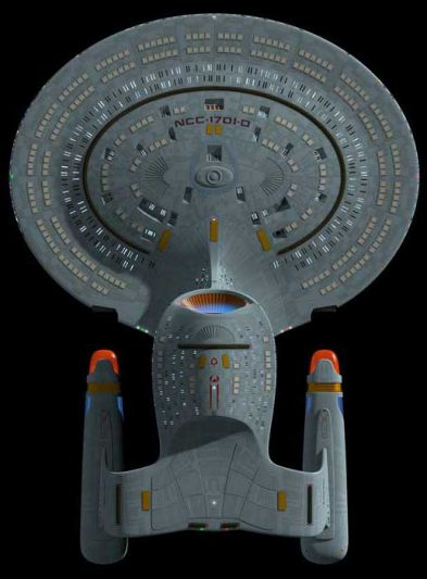 USS Enterprise NCC 1701-D, bottom view