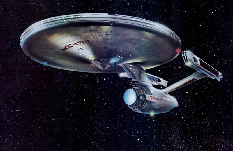 USS Enterprise NCC-1701 movie model illustration.