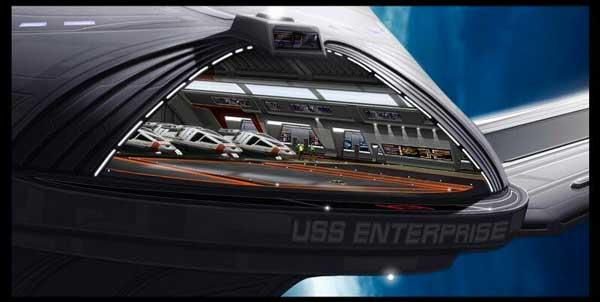 USS Enterprise NCC-1701-E - Star Trek 8,9 et 10. Hangar.