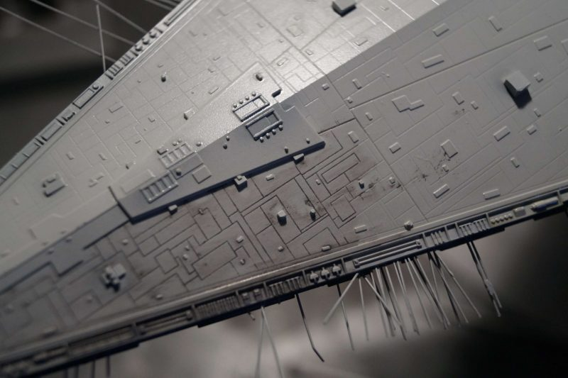 Imperial star destroyer : wash drawing