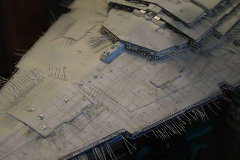 Imperial Star Destroyer : left wash drawing