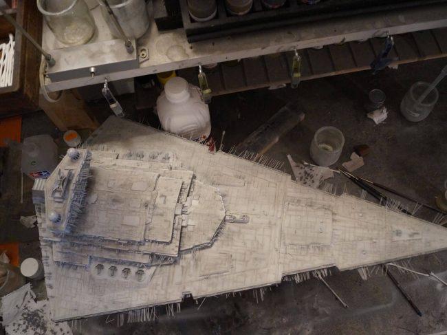 Imperial Star Destroyer : peinture de la coque