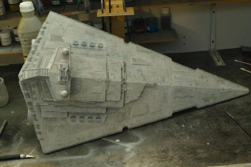 Imperial star destroyer hull paintjob.