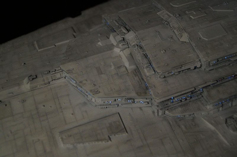 Imperial star destroyer. From above.