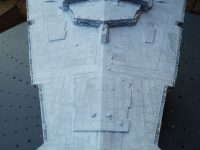 Imperial Star Destroyer. Front view, natural light.