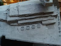 Imperial Star Destroyer. To view, details, natural light.