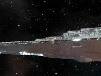 Destroyer stellaire impérial. Vue latérale.