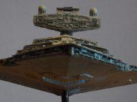 Destroyer stellaire impérial. Vue avant, pont net.