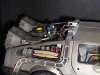 DeLorean Eaglemoss - Compartiment arrière