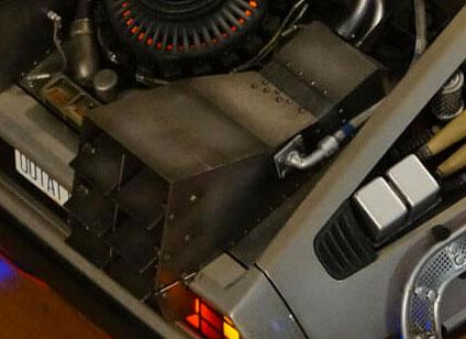 DeLorean Eaglemoss - weathering