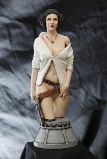la figurine de la Princesse Leïa finie