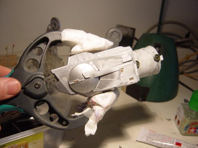 """Montage de la tête du quadripode impérial pour le diorama """"bataille de Hoth"""""""