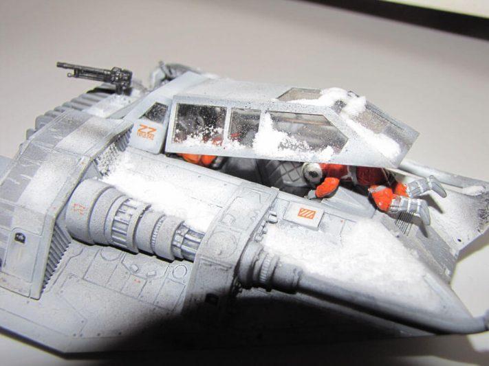 Luke Skywalker's T-47 snowspeeder durant la bataille de Hoth