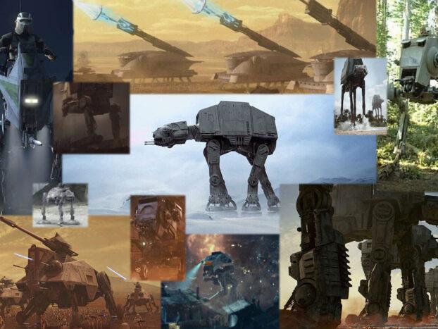 Les différents marcheurs apparaissant dans la saga Star Wars