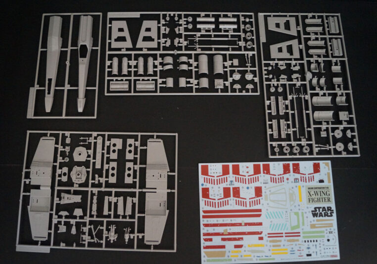 Maquette de X-Wing FineMolds : les grappes