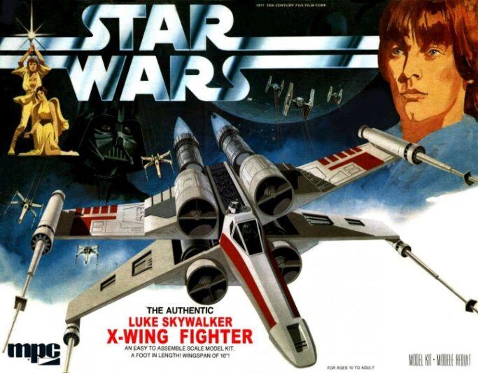 Boîtage original d'une maquette de x-Wing MPC-ERTL