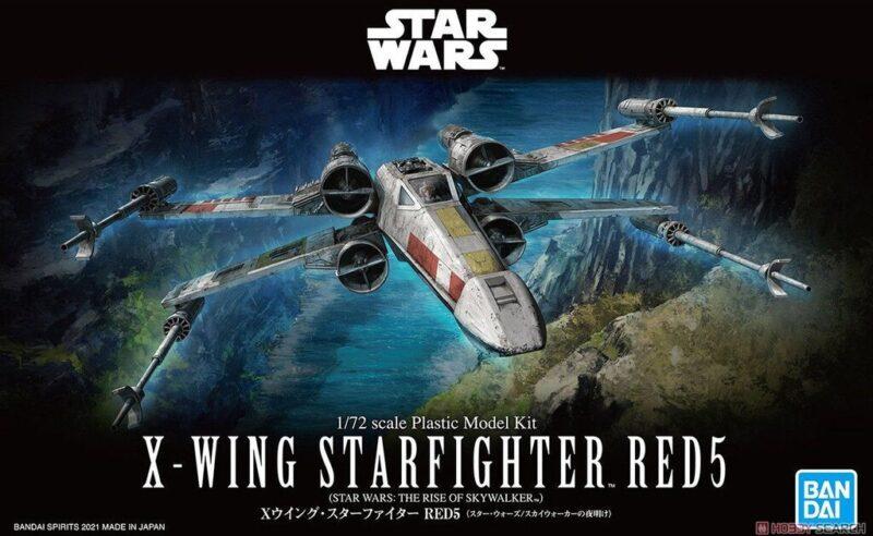 modèles de X-Wing de chez Bandai : red 5 Rey pilote